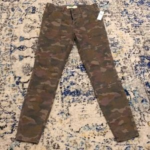 Anthropologie Camouflage Skinny Pants